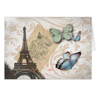 Cartes le cachet de la poste scripts la tour de Paris