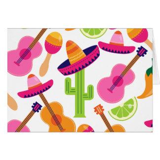 Cartes Le cactus de sombrero de partie de fiesta chaule