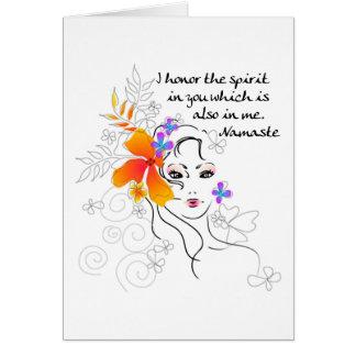 Cartes Le cadeau des femmes de Namaste