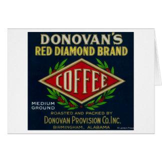 Cartes Le café LabelBirmingham, AL de Donovan