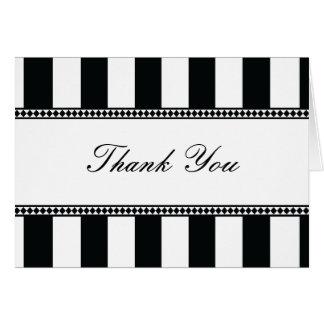 Cartes Le café noir et blanc barre la note de Merci