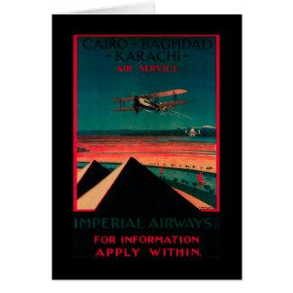 Cartes Le Caire - Bagdad - poster vintage d'air de