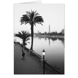 Cartes Le Caire Egypte, le long du Nil