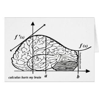 Cartes Le calcul blesse mon cerveau
