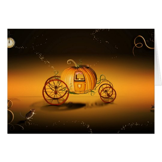 Cartes Le carrosse d'Halloween -