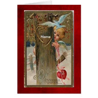 Cartes Le Carte-Cru Valentine-A mis le nom sur l'avant
