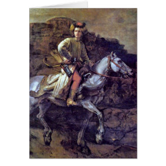 Cartes Le cavalier polonais par Rembrandt Van Rijn
