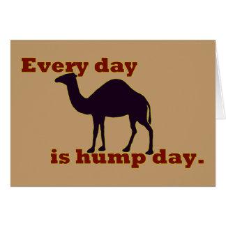 """Cartes Le chameau """"chaque jour est journée en milieu de"""