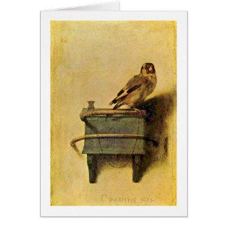 Cartes Le chardonneret. Par Carel Fabritius