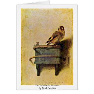 Cartes Le chardonneret., Puttertje par Carel Fabritius