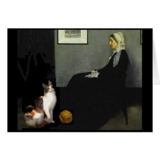 Cartes Le chat de la mère de Whistler