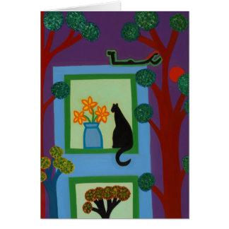 Cartes Le chat du croissant oblique 2008