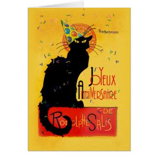 Cartes Le Chat Noir - Joyeux Anniversaire