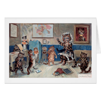 Cartes Le chat vilain, Louis Wain