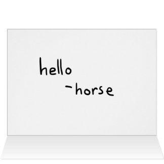 Cartes le cheval bienvenu