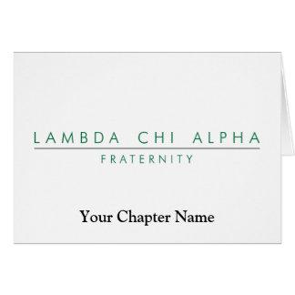 Cartes Le Chi de lambda alpha ferment à clef