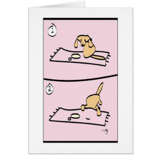 Cartes Le chien est désolé !
