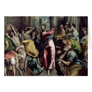 Cartes Le Christ conduisant les commerçants par le temple