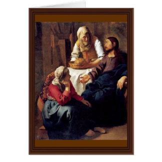 Cartes Le Christ dans la Chambre de Martha et de Mary,