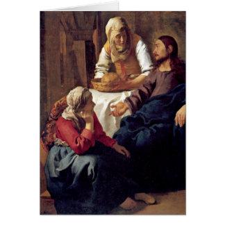 Cartes Le Christ dans la Chambre de Martha par Johannes