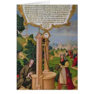 Cartes Le Christ et la femme de Samaria au puits de Jacob
