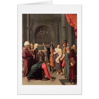 Cartes Le Christ et l'adultère rentré par femme