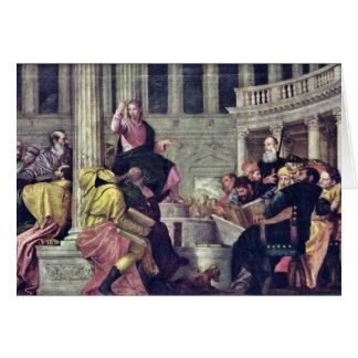 Cartes Le Christ et les scribes par Veronese Paolo