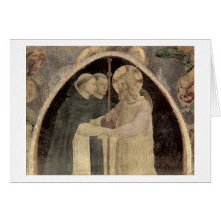 Cartes Le Christ souhaite la bienvenue à deux moines