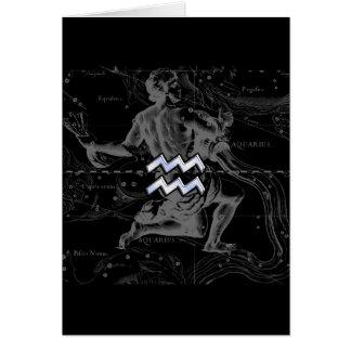 Cartes Le chrome comme le zodiaque de Verseau se