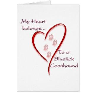 Cartes Le coeur de Coonhound de Bluetick appartient