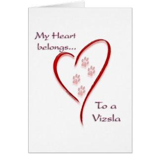 Cartes Le coeur de Vizsla appartient