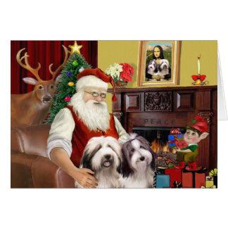 Cartes Le colley barbu de Père Noël