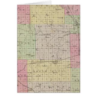 Cartes Le comté de Linn, le Kansas