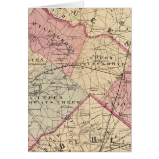 Cartes Le comté de Salem, NJ