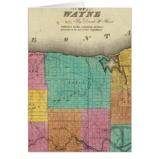Cartes Le comté de Wayne