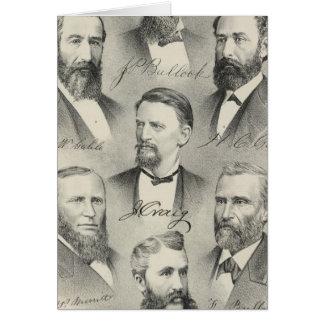 Cartes Le comté de Yolo a lithographié des portraits