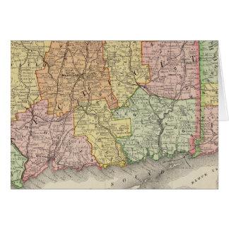 Cartes Le Connecticut et Île de Rhode