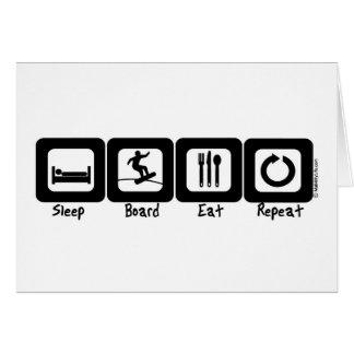 Cartes Le conseil de sommeil mangent la répétition