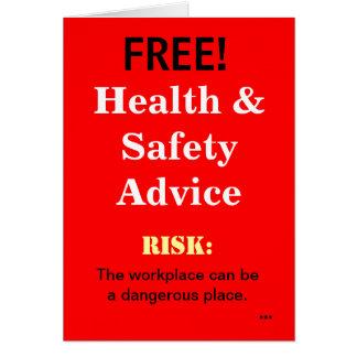 Cartes Le conseil drôle libre de santé et sécurité