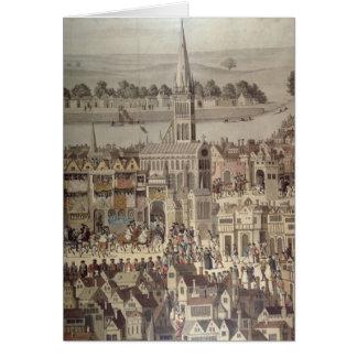 Cartes Le cortège de couronnement du Roi Edouard VI