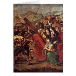 Cartes Le cortège vers le calvaire, c.1505