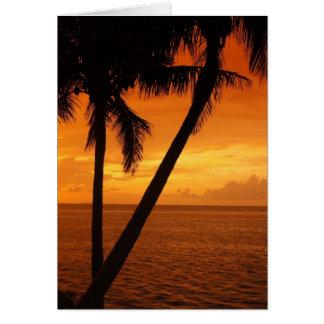 Cartes Le coucher du soleil de la clé de la Floride