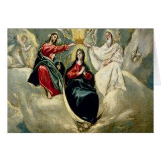 Cartes Le couronnement de la Vierge, c.1591-92