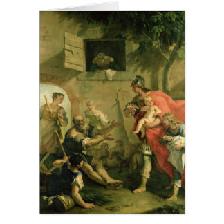 Cartes Le Cyrus infantile avec le berger