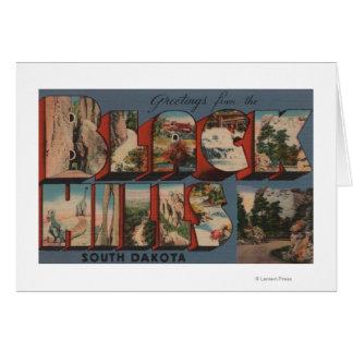 Cartes Le Dakota du Sud - Black Hills - mont Rushmore