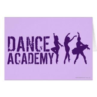 Cartes Le danseur d'Acadmey de danse silhouette le logo