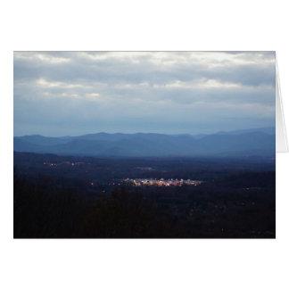 Cartes Le ~ de Blue Ridge Mountains une petite ville