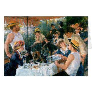 Cartes Le déjeuner de Renoir de la partie de canotage