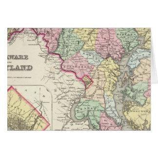 Cartes Le Delaware et le Maryland avec le District de