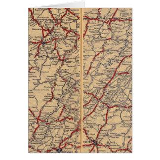 Cartes Le Delaware, le Maryland, la Virginie, la Virginie